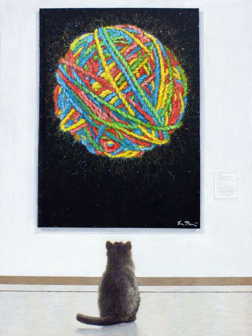 Cat At The Museum