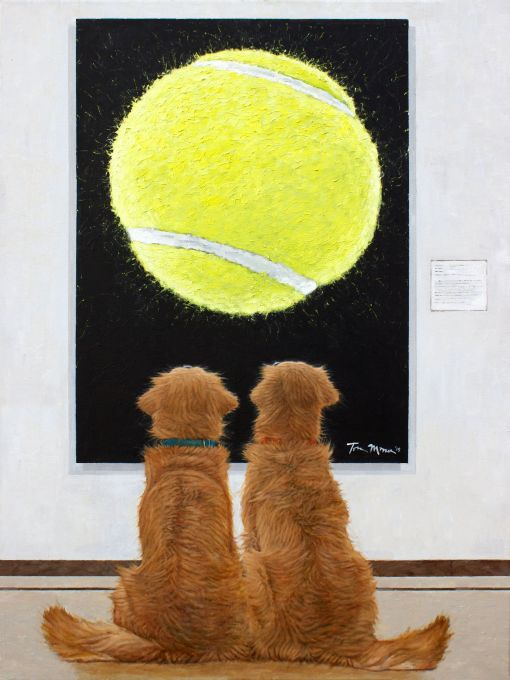 Two Goldens At The Museum